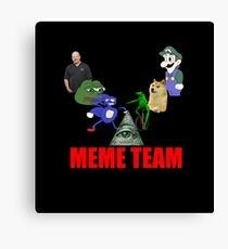 Meme Team Canvas Print
