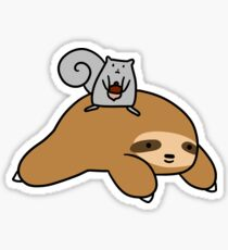 Sloth and Squirrel  Sticker