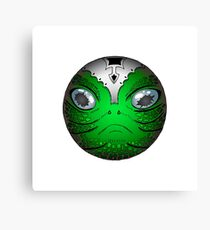 Portrait of Reptile alien with helmet Canvas Print