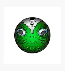 Portrait of Reptile alien with helmet Photographic Print