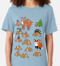 Sloths and Animals! Slim Fit T-Shirt