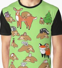 Sloths and Animals! Graphic T-Shirt