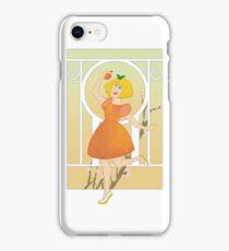 Art Nouveau Peach Girl iPhone Case/Skin