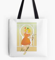 Art Nouveau Peach Girl Tote Bag