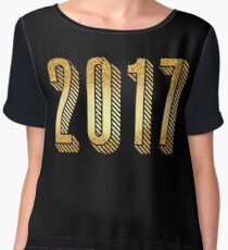 Gold Typography New Years 2017 Women's Chiffon Top