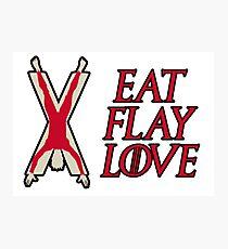 Eat, Flay, Love  Photographic Print