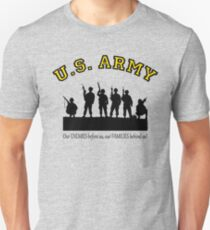 U.S. ARMY:  Our ENEMIES before us, our FAMILIES behind us! Unisex T-Shirt