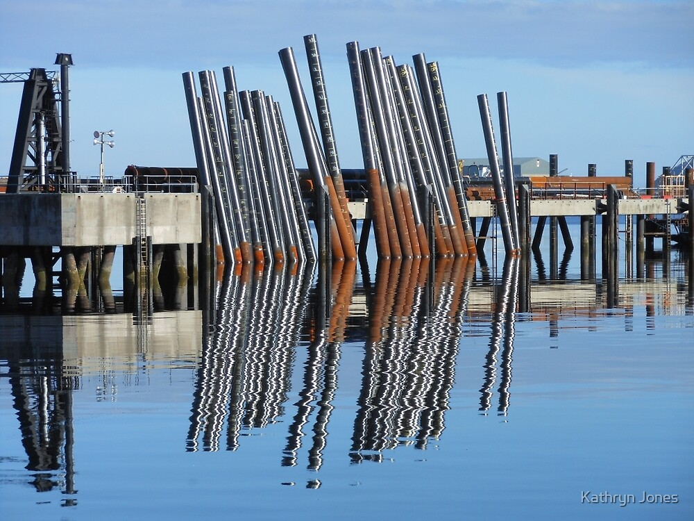 Docks Reflections - Stornoway Harbour by Kathryn Jones