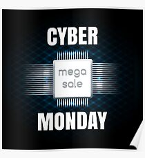 Cyber Monday sale banner template Poster