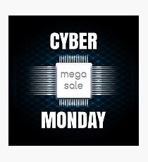 Cyber Monday sale banner template Photographic Print