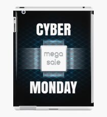 Cyber Monday sale banner template iPad Case/Skin