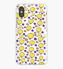 Yellow Balloons orange and blue balls iPhone Case/Skin
