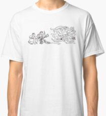 Gahan Wilson Art 1: US - Investigators Pursue the Mythos  Classic T-Shirt