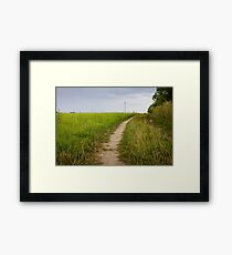 Rural Path Closeup Framed Print