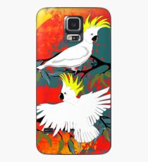 BushFire Sulfur Crested Cockatoos  Case/Skin for Samsung Galaxy