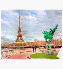 Tilting at Windmills - France Reborn & The Eiffel Tower Poster