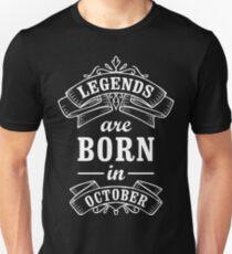 Legends Born in october Unisex T-Shirt