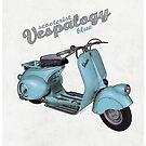 Scooterist Vespalogy (blue) by 73553