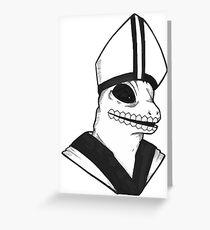 Lizard Pope Greeting Card