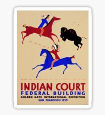 Vintage poster - Indian Court Federal Building Sticker