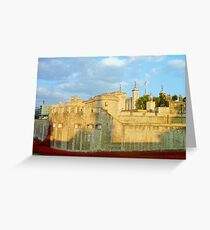 Blood Filled Moat - Tower of London Greeting Card