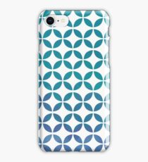 Symmetry Circles - Cool Colors iPhone Case/Skin