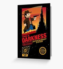 Tower of Darkness Greeting Card