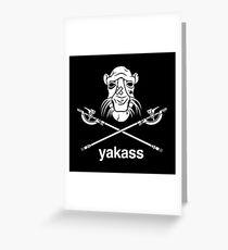 Yakass Greeting Card