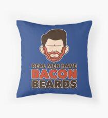 Bacon Beard (men's version) Throw Pillow