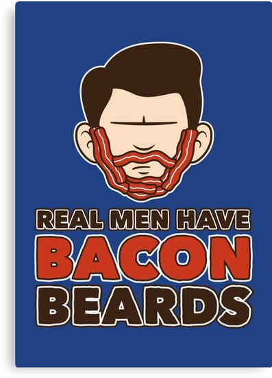 Bacon Beard (men's version) by mikehandyart