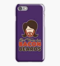 Bacon Beard (women's version) iPhone Case/Skin