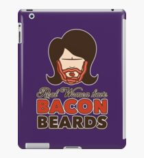 Bacon Beard (women's version) iPad Case/Skin