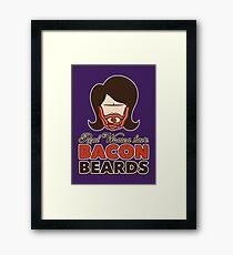 Bacon Beard (women's version) Framed Print