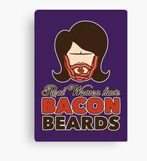 Bacon Beard (women's version) Canvas Print