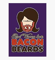Bacon Beard (women's version) Photographic Print