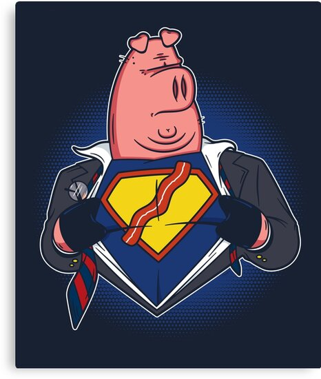 Super Bacon by mikehandyart