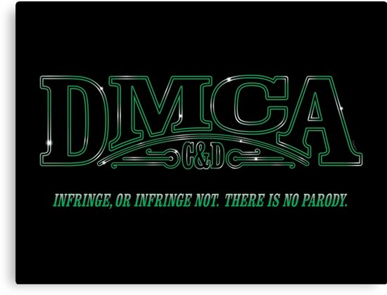 The DMCA Strikes Back by mikehandyart