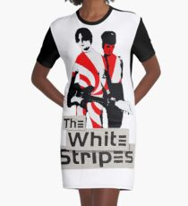 The White Stripes - Pepermint Tape Graphic T-Shirt Dress