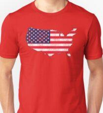USA Map Flag Unisex T-Shirt