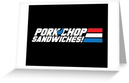 Pork Chop Sandwiches! by mikehandyart