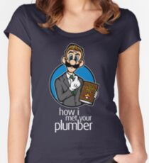 How I Met Your Plumber Women's Fitted Scoop T-Shirt