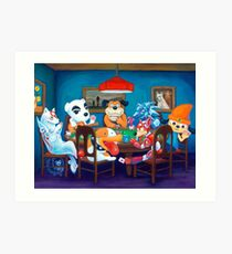 Video Game Dogs Playing Poker Art Print