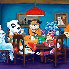 Video Game Dogs Playing Poker by Katie Clark