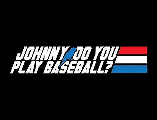 Johnny, Do You Play Baseball? by mikehandyart