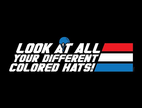 Look at All Your Different Colored Hats! by mikehandyart