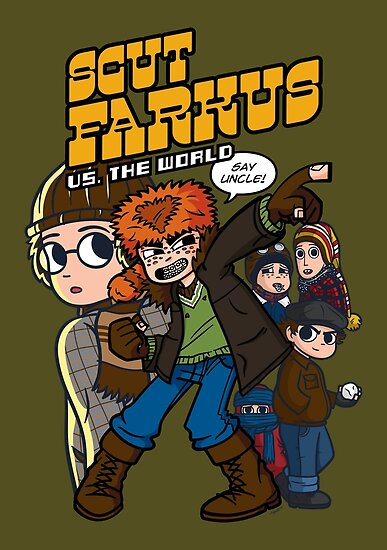 Scut Farkus vs. The World by mikehandyart