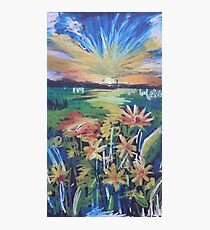 Oil Flowers on a Field Photographic Print