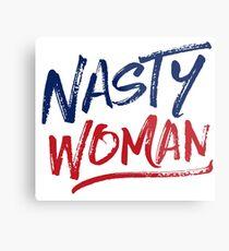 Nasty Woman - Patriotic Metal Print