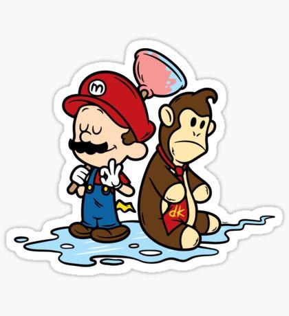 Mario and Kong Sticker