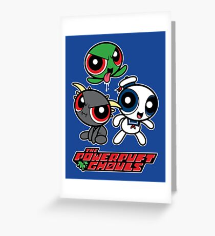 The Powerpuft Ghouls Greeting Card
